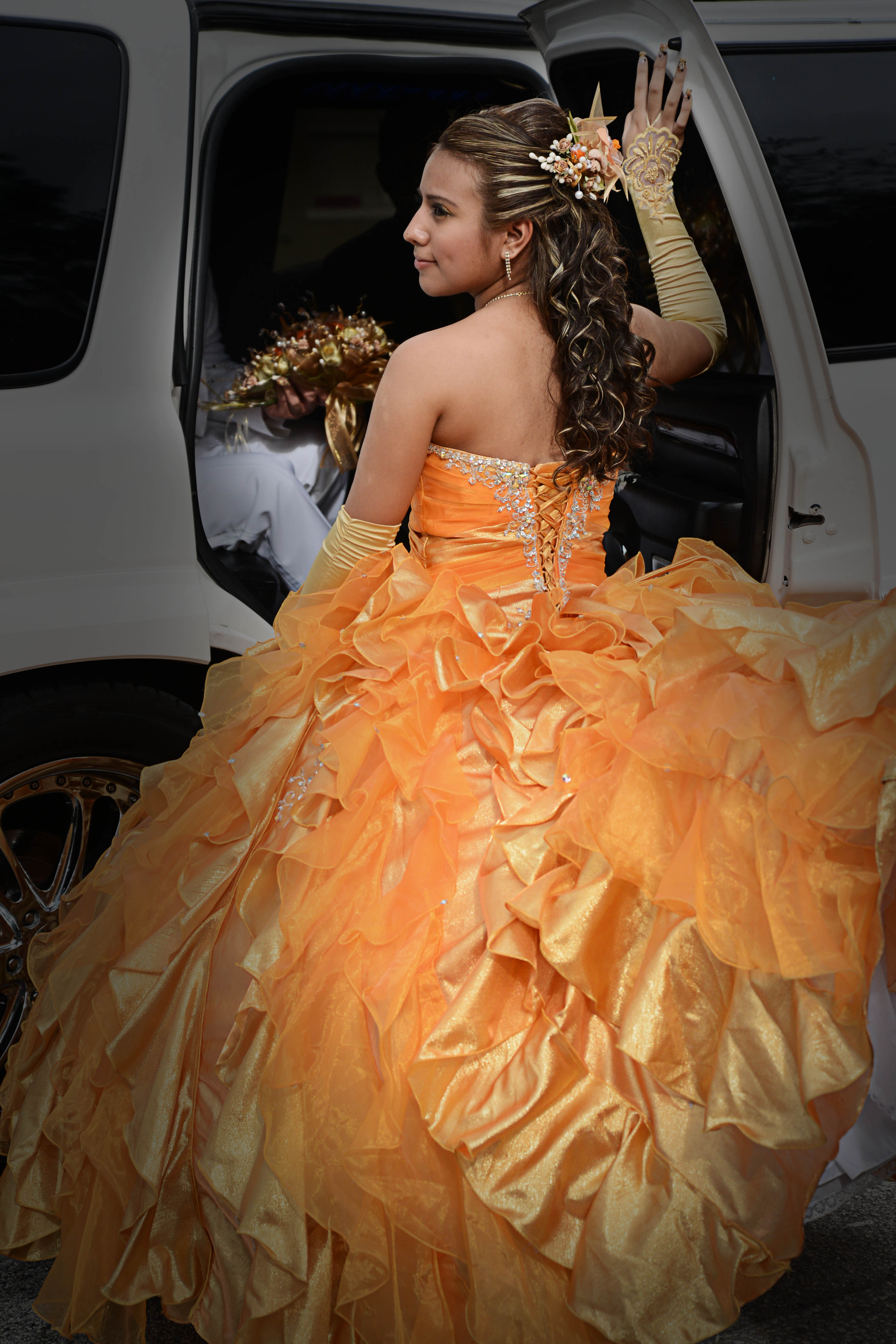 Quinceanera with Escalade Limo